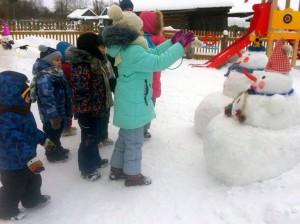 5.Кольцеброс-Попади снеговичку на нос!